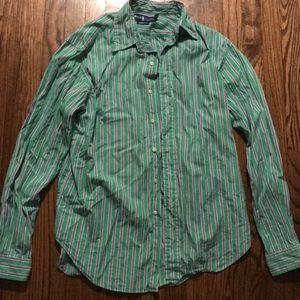 Ralph Lauren Green & Purple Striped Button Down